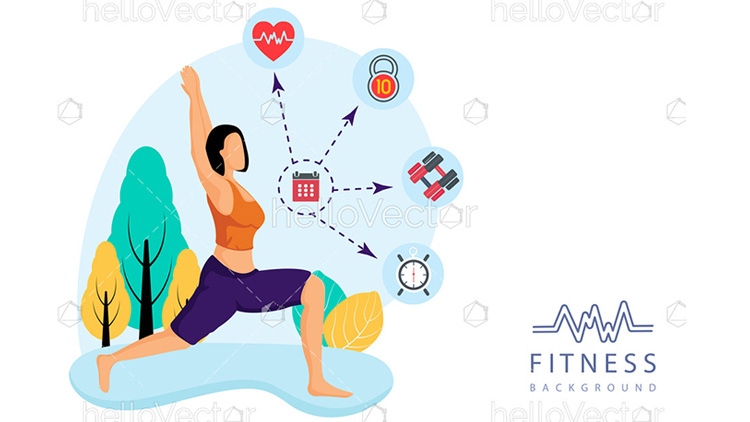 health and fitness graphics